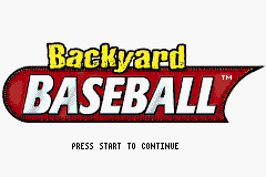 Backyard Baseball GBA Screenshot Screenshot 1