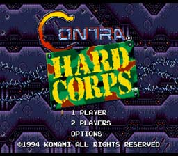 Contra Hard Corps Genesis Screenshot Screenshot 1
