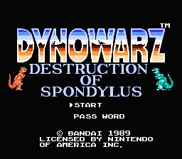 Dynowarz NES Screenshot Screenshot 1