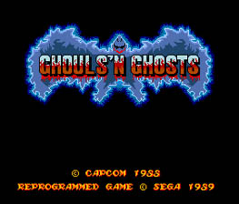 Ghouls 'n Ghosts Genesis Screenshot Screenshot 1