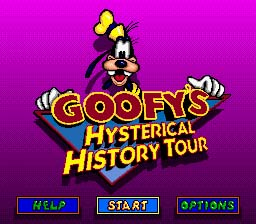 Goofy's Hysterical History Tour Genesis Screenshot Screenshot 1