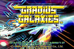 Gradius Galaxies GBA Screenshot Screenshot 1