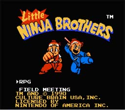 Little Ninja Brothers NES Screenshot Screenshot 1