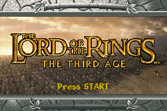 Lord of the Rings The Third Age GBA Screenshot Screenshot 1