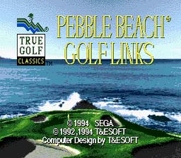 Pebble Beach Golf Links Genesis Screenshot Screenshot 1