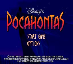 Pocahontas Genesis Screenshot Screenshot 1