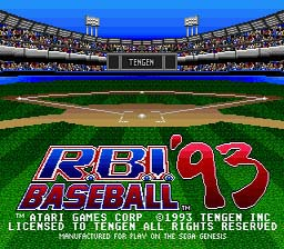 RBI Baseball 93 Genesis Screenshot Screenshot 1