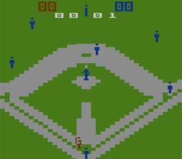 Super Challenge Baseball Atari 2600 Screenshot Screenshot 1